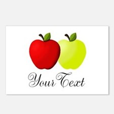 Personalizable Apples Postcards (Package of 8)