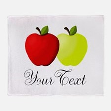 Personalizable Apples Throw Blanket