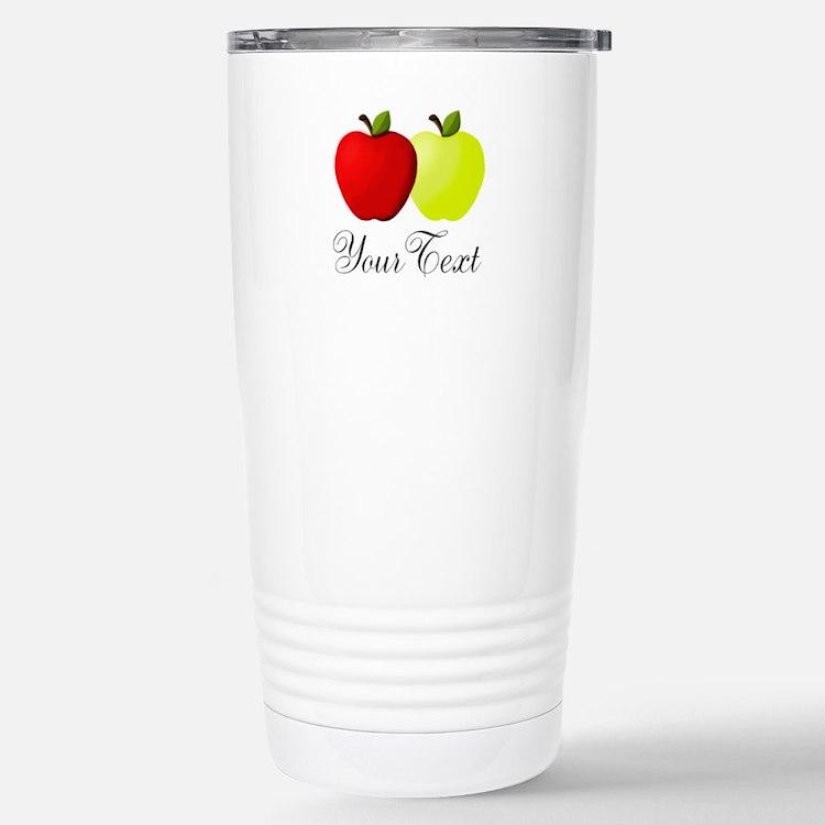 Personalizable Apples Travel Mug