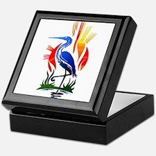 Blue Heron Sun and Marsh Keepsake Box