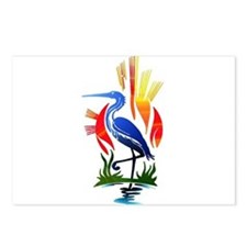 Blue Heron Sun and Marsh Postcards (Package of 8)