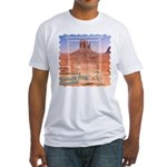 Monument Valley 4 Navajo Rugs Fitted T-Shirt
