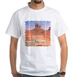Monument Valley 4 Navajo Rugs White T-Shirt