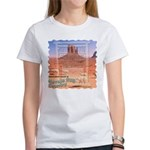 Monument Valley 4 Navajo Rugs Women's T-Shirt