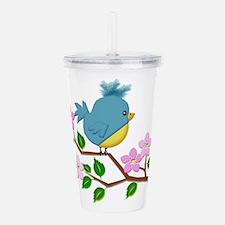 Bird on Tree Limb with Acrylic Double-wall Tumbler