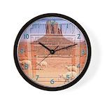 Monument Valley 4 Navajo Rugs Wall Clock