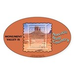 Monument Valley 4 Navajo Rugs Oval Sticker