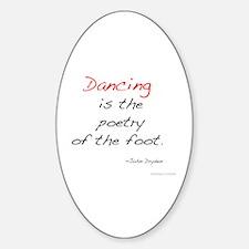 Dryden on Dance Oval Decal