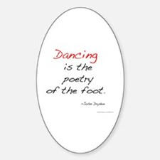 Dryden on Dance Oval Stickers