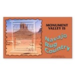 Monument Valley 4 Navajo Rugs Sticker (Rect.)
