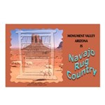 Monument Valley 4 Navajo Rugs Postcards (8)