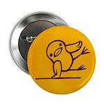 break dancing chick Button