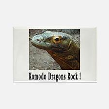 Komodo Dragons Rock ! Rectangle Magnet