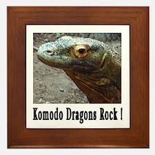 Komodo Dragons Rock ! Framed Tile