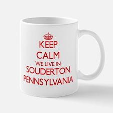 Keep calm we live in Souderton Pennsylvania Mugs