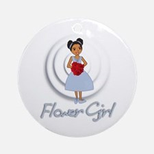 Maria's Flower Girl Ornament (Round)