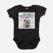 funny games player joke mahjong Baby Bodysuit
