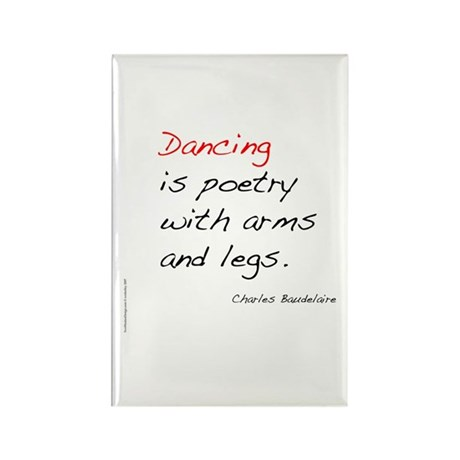 Baudelaire on Dance Rectangle Magnet
