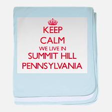Keep calm we live in Summit Hill Penn baby blanket