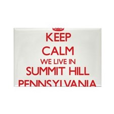 Keep calm we live in Summit Hill Pennsylva Magnets
