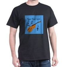 Customizable Violin Design T-Shirt