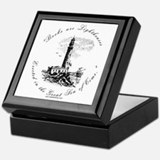 Books are Lighthouses<br> Keepsake Box