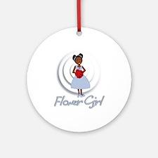 Tina's Flower Girl Ornament (Round)