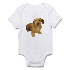 Red Wire Haired Dachshund Infant Bodysuit