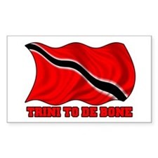 Trini to de bone W/ Flag Sticker (Rect.)