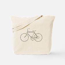 Black bike Tote Bag