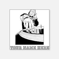 Custom DJ Spinning Records Sticker