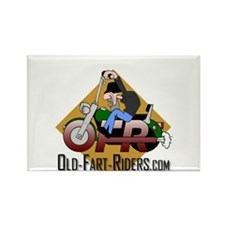 Old-Fart-Riders.com Rectangle Magnet
