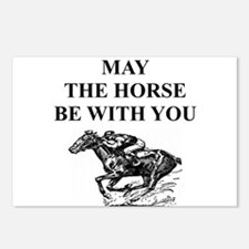 i love horse racing Postcards (Package of 8)