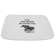 i love horse racing Bathmat