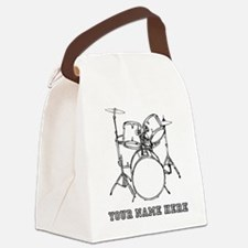 Custom Drum Set Canvas Lunch Bag