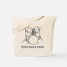 Custom Drum Set Tote Bag