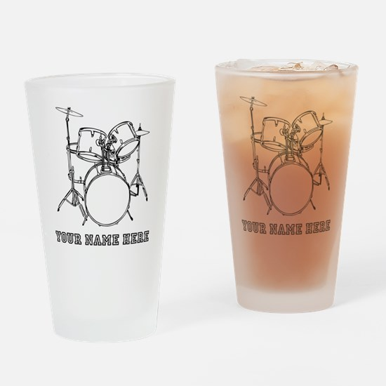Custom Drum Set Drinking Glass