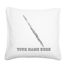 Custom Flute Square Canvas Pillow