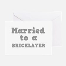 Married to a Bricklayer Greeting Cards (Package of