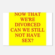 DIVORCED sex Postcards (Package of 8)