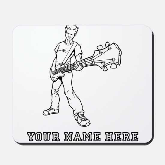 Custom Bass Guitar Player Mousepad