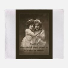 Sister Inspirational Quote Vintage girls Throw Bla