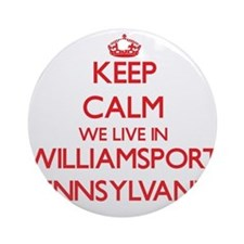Keep calm we live in Williamsport Ornament (Round)