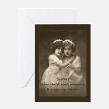 Sister Inspirational Quote Vintage girls Greeting
