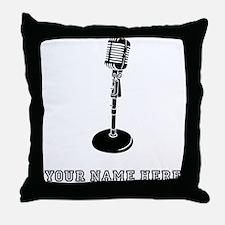 Custom Retro Microphone Throw Pillow