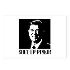 Ronald Reagan says, SHUT UP PINKO! Postcards (Pack
