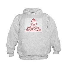 Keep calm we live in Jamestown Rhode I Hoodie
