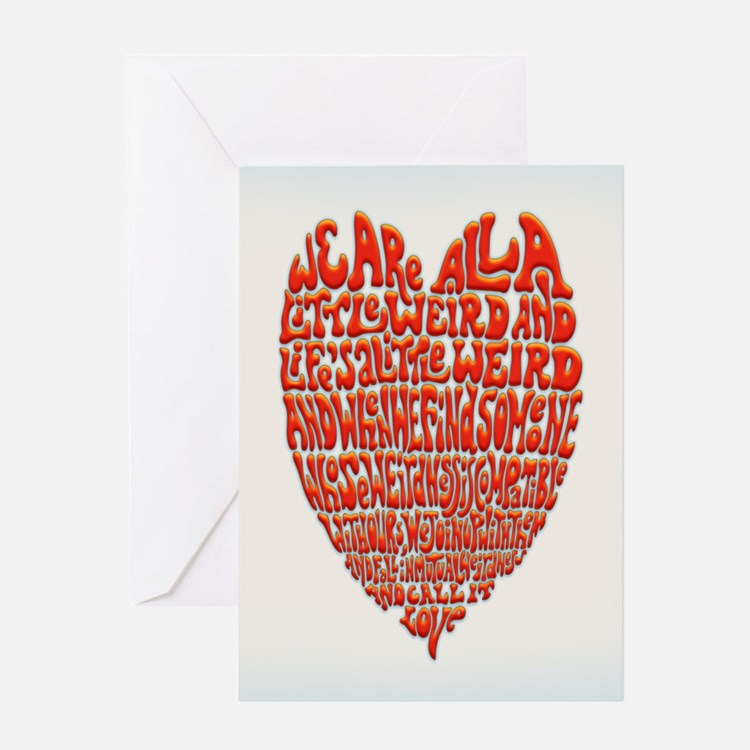 Love Is Weird Greeting Card