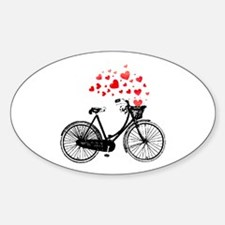 Vintage Bike with Hearts Decal