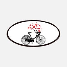 Vintage Bike with Hearts Patches